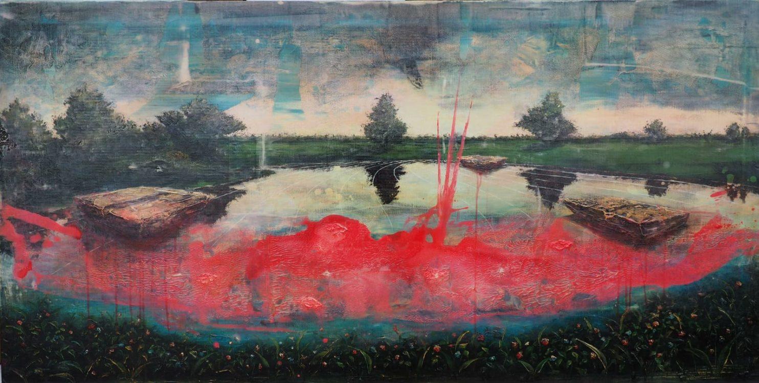 Opera di Jernej Forbici esposta presso la Hugo Galerie di New York