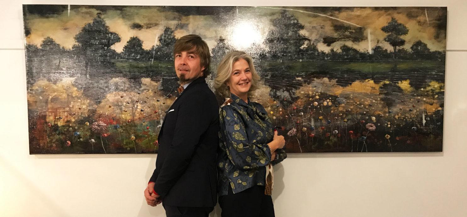 Jernej Forbici e Sofia Macchi a Monaco (Germania) per la mostra privata dell'artista