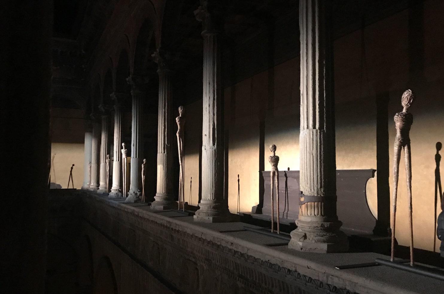 Veduta della mostra personale dell'artista Alex Pinna presso il Palazzo Bevilacqua Ariosti di Bologna