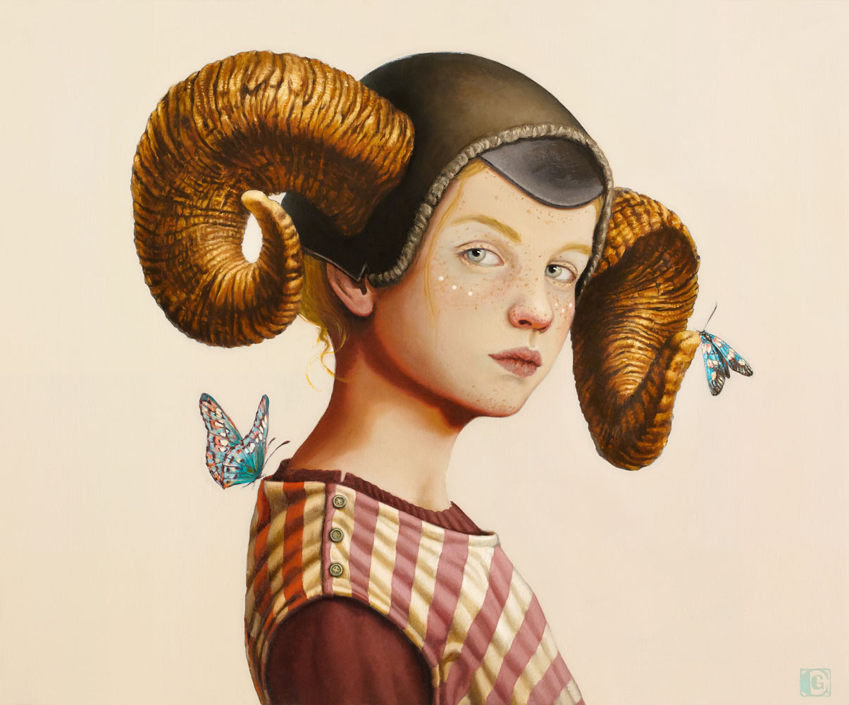 GIRAUDO CLAUDIA, Cuore di fauno _ IV Atto, 2018, olio su tela, 50 x 60 cm