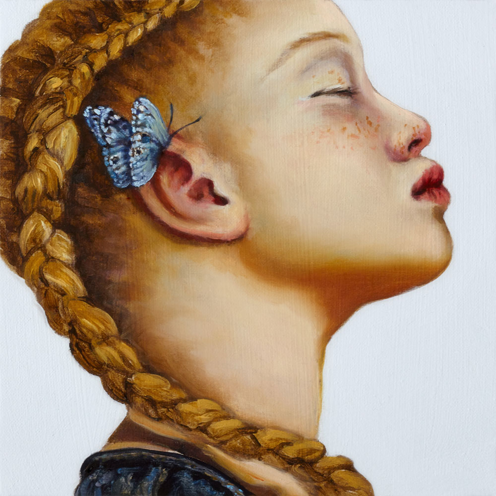 GIRAUDO CLAUDIA, Lullaby _ Souvenir XIII, 2019, olio su tela, 15x15 cm