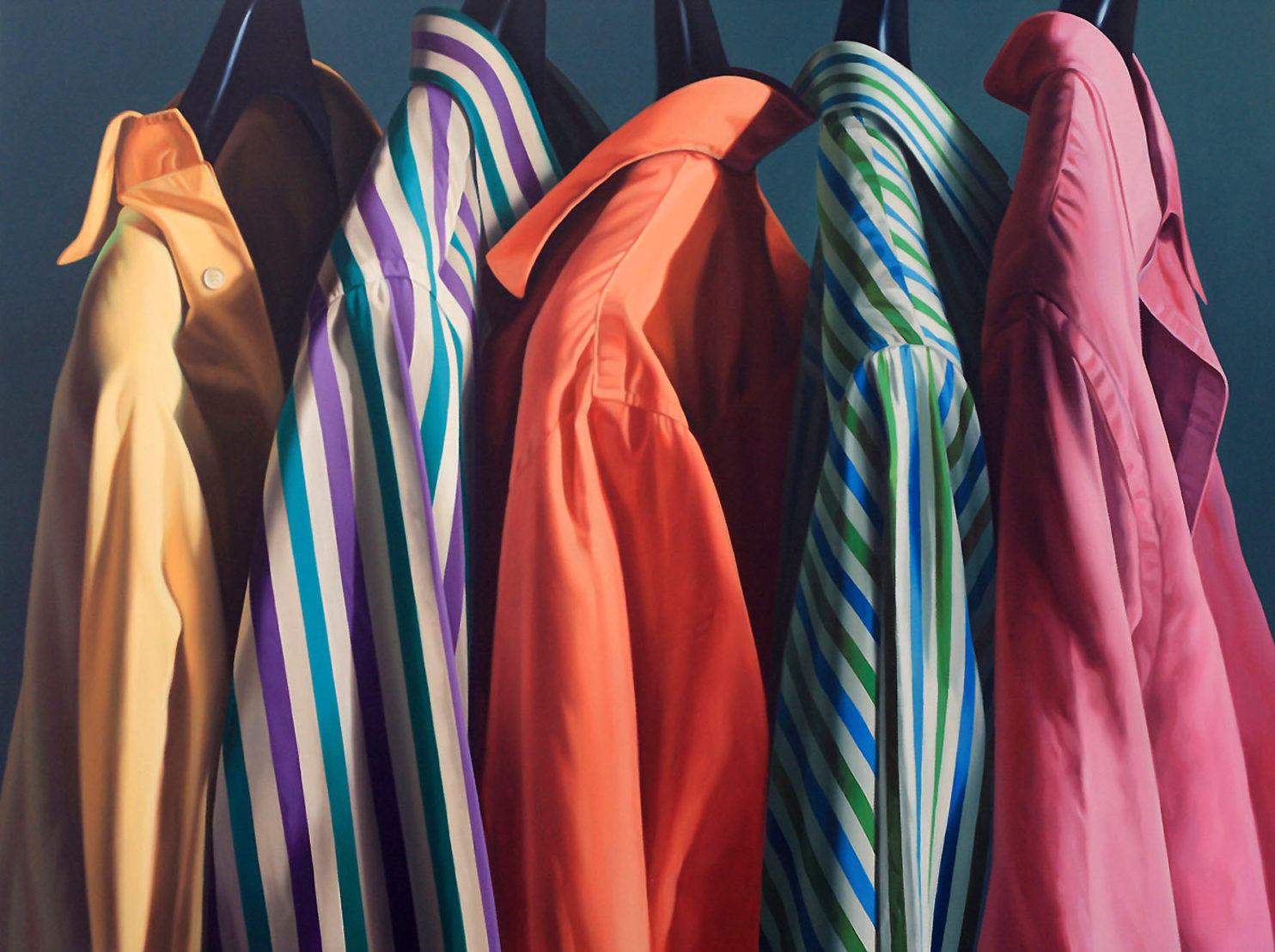 MAGNANI ALBERTO, Camicie in Fila, 2012, Olio su tela, 100x130 cm