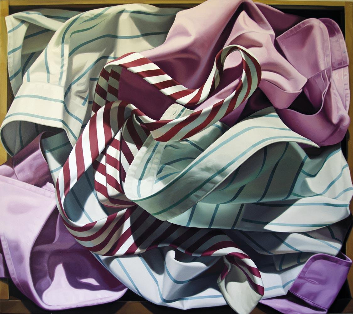 MAGNANI ALBERTO, Camicie nel Cassetto, 2018, olio su tela, 90x100 cm