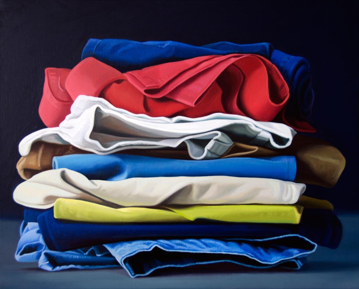 MAGNANI ALBERTO, Pila di Jeans, 2018, olio su tela, 40 x 50 cm.jpg